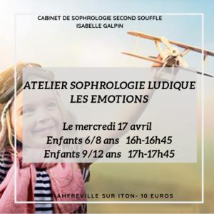 """2 ateliers sophrologie Ludique pour les enfants autour du thème """"Les Emotions"""""""