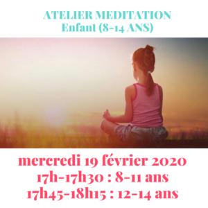 Atelier méditation enfants (8-14 ans)